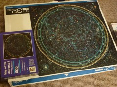 Thursday 04-02-16. Finished the glow in the dark map of the universe puzzle.