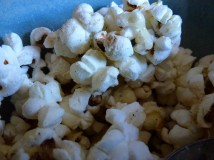 Monday 15-02-16. Homemade popcorn.