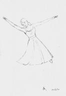 Friday 24-06-16. basic dancer doodle in pencil.