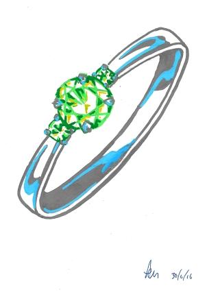 Thursday 30-06-16. A ring in Posca pen.