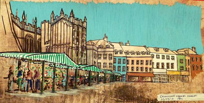 cirencester market sketch