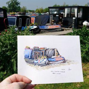 watercolour boats